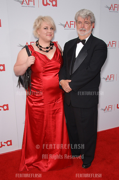 GEORGE LUCAS & daughter KATIE at the 34th AFI Life Achievement Award Gala in Hollywood..June 8, 2006  Los Angeles, CA.© 2006 Paul Smith / Featureflash