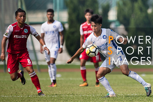 Chen Pujai R&F F.C (R) in action during the week three Premier League match between Kwoon Chung Southern and R&F at Aberdeen Sports Ground on September 16, 2017 in Hong Kong, China. Photo by Marcio Rodrigo Machado / Power Sport Images