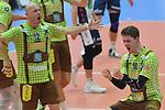 27.01.2018,  Lueneburg GER, VBL, SVG Lueneburg vs TSV Herrsching, im Bild die Herrschinger Mannschaft jubelt/ Foto © nordphoto / Witke