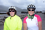 Jean Harmon, Cork and Sally Turner, Cork, pictured at the half way break at Kilmackillogue Harbour in County Kerry whilst taking part in the annual Sneem Cycle, &ldquo;Wild Atlantic Challenge Charity Cycle&rdquo; in aid of Breakthrough Cancer Research at the weekend.<br /> Photo Don MacMonagle<br /> <br /> repro free photo<br /> Further info: Ann O'Sullivan ann@breakthroughcancerresearch.ie
