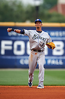 Biloxi Shuckers shortstop Orlando Arcia (2) during the second game of a double header against the Pensacola Blue Wahoos on April 26, 2015 at Pensacola Bayfront Stadium in Pensacola, Florida.  Pensacola defeated Biloxi 2-1.  (Mike Janes/Four Seam Images)