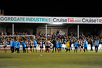 Chorley players are applauded by the home fans at the end of the match during Chorley vs Fleetwood Town, Emirates FA Cup Football at Victory Park on 6th November 2017