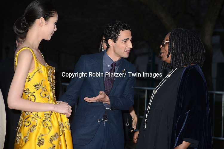 Zac Posen and Whoopi Goldberg attends the Vanity Fair Party for the 2013 Tribeca Film Festival on April 16, 2013 at State Suprme Courthouse in New York City.