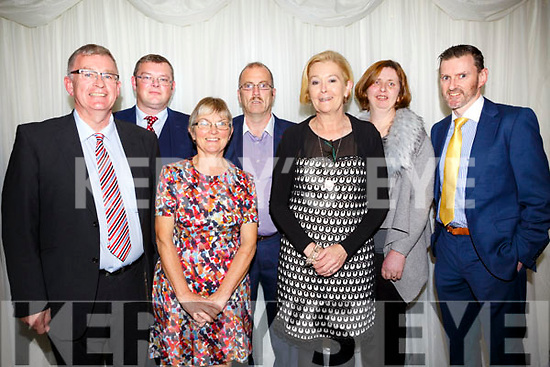 Committee members Jerome Casey, Joe Flaherty, Lavinia Cunningham, Frank McLoughlin, Christine Curtin, Nora Feely and Glen Carney at the Kerry Ladies Gaelic Football Association Awards in The Rose Hotel on Saturday night.