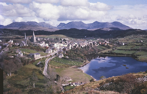 The Capital of Connemara – Clifden with the sea on its doorstep, and the Twelve Bens beyond