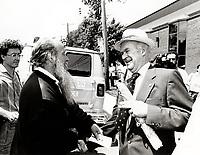 Montreal (QC) CANADA file photo - June 1988- Dave Parsons (L), Alan Singer (R)