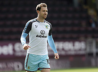 Burnley's Ashley Barnes during the pre-match warm-up <br /> <br /> Photographer Rich Linley/CameraSport<br /> <br /> The Premier League - Burnley v Leicester City - Saturday 14th April 2018 - Turf Moor - Burnley<br /> <br /> World Copyright &copy; 2018 CameraSport. All rights reserved. 43 Linden Ave. Countesthorpe. Leicester. England. LE8 5PG - Tel: +44 (0) 116 277 4147 - admin@camerasport.com - www.camerasport.com