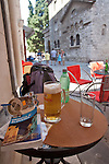 Croatia, Pula, old town, hot day of tourism in this ancient Roman town, Istra Coast of croatia, Adriatic Sea, Europe,