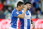 CD Leganes' Martin Mantovani (l) and Diego Rico celebrate goal during La Liga match. February 25,2017. (ALTERPHOTOS/Acero)