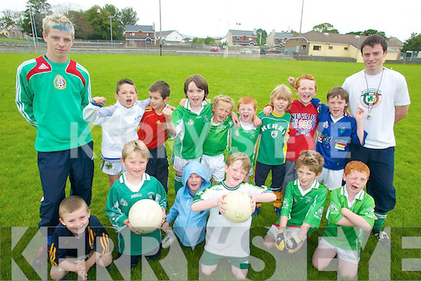 SUMMER CAMP: Some of the participants at the Na Gaeil GAA summer camp last Thursday along with instructors Ian McCarthy and Sean Herlihy.   Copyright Kerry's Eye 2008