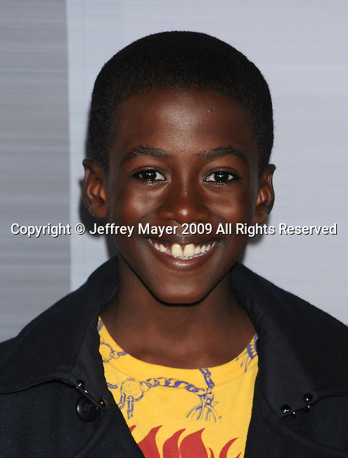"""HOLLYWOOD, CA. - October 19: Kwesi Boakye arrives at the """"Astro Boy"""" Los Angeles premiere at Grauman's Chinese Theatre on October 19, 2009 in Los Angeles, California."""