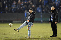 A general view of the half-time kicking competition. Anglo-Welsh Cup Semi Final, between Bath Rugby and Northampton Saints on March 9, 2018 at the Recreation Ground in Bath, England. Photo by: Patrick Khachfe / Onside Images