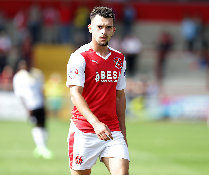 Fleetwood Town's Lyle Della Verde<br /> <br /> Photographer Stephen White/CameraSport<br /> <br /> Football - The Football League Sky Bet League One - Fleetwood Town v Colchester United - Saturday 22nd August 2015 - Highbury Stadium - Fleetwood<br /> <br /> &copy; CameraSport - 43 Linden Ave. Countesthorpe. Leicester. England. LE8 5PG - Tel: +44 (0) 116 277 4147 - admin@camerasport.com - www.camerasport.com