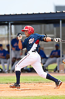 Wander Nunez of the Gulf Coast League Nationals during the game against the Gulf Coast League Mets June 27 2010 at the Washington Nationals complex in Viera, Florida.  Photo By Scott Jontes/Four Seam Images