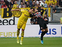 Thomas Delaney (Borussia Dortmund) gegen Goncalo Paciencia (Eintracht Frankfurt) - 22.09.2019: Eintracht Frankfurt vs. Borussia Dortmund, Commerzbank Arena, 5. Spieltag<br /> DISCLAIMER: DFL regulations prohibit any use of photographs as image sequences and/or quasi-video.