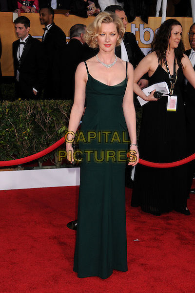 Gretchen Mol.Arrivals at the 19th Annual Screen Actors Guild Awards at the Shrine Auditorium in Los Angeles, California, USA..27th January 2013.SAG SAGs full length black dress dark green.CAP/ADM/BP.©Byron Purvis/AdMedia/Capital Pictures