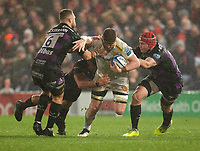 Exeter Chiefs' Jacques Vermeulen in action during todays match<br /> <br /> Photographer Bob Bradford/CameraSport<br /> <br /> Gallagher Premiership - Gloucester Rugby v Exeter Chiefs - Friday 14th February 2020 - Kingsholm Stadium - Gloucester<br /> <br /> World Copyright © 2020 CameraSport. All rights reserved. 43 Linden Ave. Countesthorpe. Leicester. England. LE8 5PG - Tel: +44 (0) 116 277 4147 - admin@camerasport.com - www.camerasport.com
