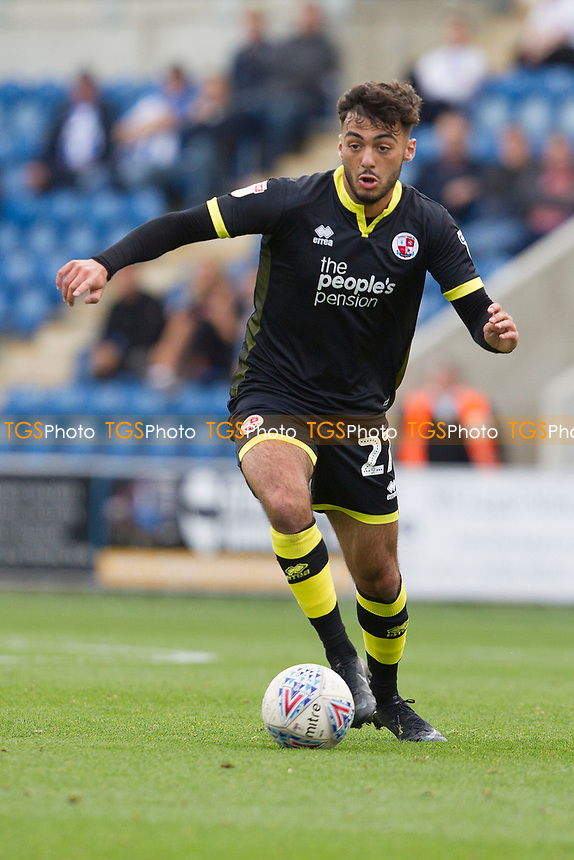 during Colchester United vs Crawley Town, Sky Bet EFL League 2 Football at the JobServe Community Stadium on 13th October 2018