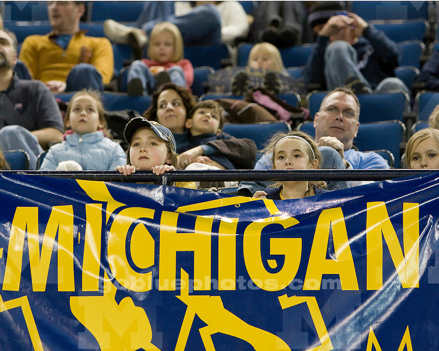 University of Michigan gymnastics (women) Maize-Blue intrasquad meet at Crisler Arena on 12/12/09.