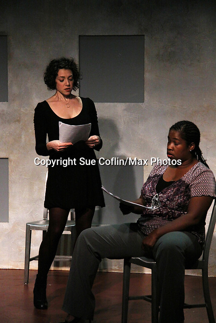 "Amanda Sayle & Cecily Benjamin in ""Verbatim Verboten - NYC"" on October 18, 2010 at the WorkShop Theater, NYC. (Photo by Sue Coflin/Max Photos)"
