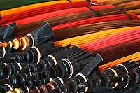 Umbrellas awaiting final assembly, Bosang, Chiang Mai, Thailand