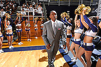 12 November 2010:  FIU Basketball Head Coach Isiah Thomas is welcomed to the court by FIU's Golden Dazzlers prior to the start of the game.  The FIU Golden Panthers defeated the Florida Memorial Lions, 89-73, at the U.S. Century Bank Arena in Miami, Florida.