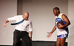 Melvin Huffnagle & Thaddeus Daniels - Layon Gray's Kings of Harlem - a story about the Harlem Rens who were one of the dominant basketball teams of the 1920's and 1930's - had a special show on September 15, 2015 at St. Luke's Theatre, New York City, New York. The play stars Melvin Huffnagle, Thaddeus Daniels, Ade Otukoya, Lamar Cheston, Delano Barbosa, Jeantique Oriol and Layon Gray.  (Photo by Sue Coflin/Max Photos)