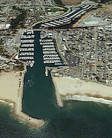 aerial photograph of the Santa Cruz small craft harbor, Santa Cruz, California