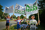 Fans wait for the race during Stage 4 of the 2018 Tour de France running 195km from La Baule to Sarzeau, France. 10th July 2018. <br /> Picture: ASO/Bruno Bade | Cyclefile<br /> All photos usage must carry mandatory copyright credit (&copy; Cyclefile | ASO/Bruno Bade)