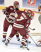Tim Filangieri, Peter Harrold, Bryan Ewing - The Boston College Eagles defeated the Boston University Terriers 5-0 on Saturday, March 25, 2006, in the Northeast Regional Final at the DCU Center in Worcester, MA.