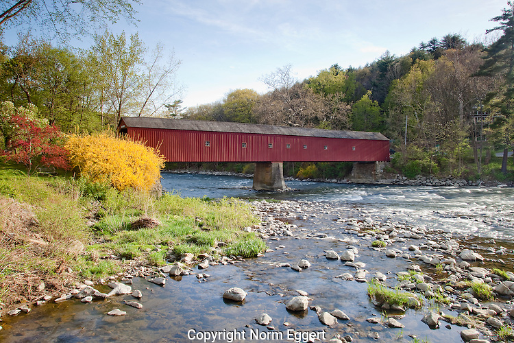 West Cornwall Covered Bridge in Springtime