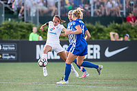 Boston, MA - Friday August 04, 2017: Shea Groom, Amanda Frisbie and Megan Oyster during a regular season National Women's Soccer League (NWSL) match between the Boston Breakers and FC Kansas City at Jordan Field.