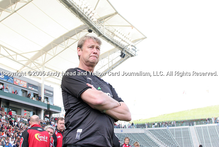 29 January 2006: Norway head coach Age Hareide. The United States Men's National Team defeated their counterparts from Norway 5-0 at the Home Depot Center in Carson, California in a men's international friendly soccer game.