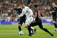 Real Madrid´s Portuguese forward Cristiano Ronaldo and Paris Saint Germain´s Serge Aurier