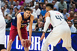 Real Madrid's player Jeffery Taylor and Barcelona's player Satoransky during Liga Endesa 2015/2016 Finals 4th leg match at Barclaycard Center in Madrid. June 20, 2016. (ALTERPHOTOS/BorjaB.Hojas)