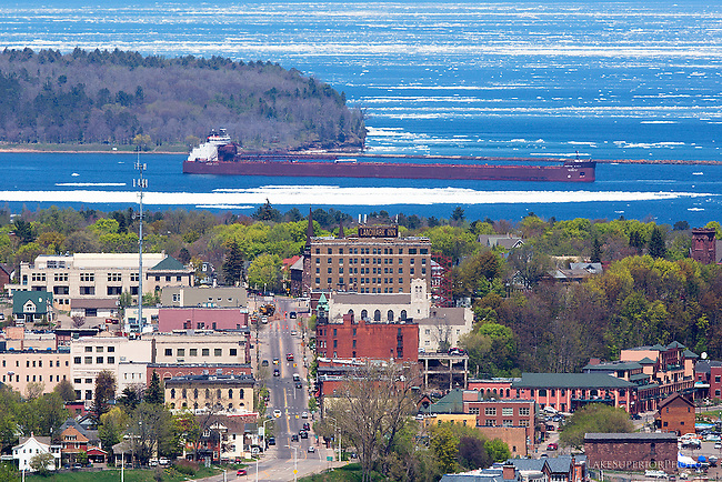 Marquette, Michigan, Mesabi Miner, May 2014, Lake Superior Ice, Spring 2014
