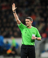 FUSSBALL   CHAMPIONS LEAGUE   SAISON 2011/2012  Bayer 04 Leverkusen - FC Valencia           19.10.2011 Schiedsrichter Craig THOMSON