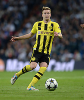 FUSSBALL  CHAMPIONS LEAGUE  HALBFINALE  RUECKSPIEL  2012/2013      Real Madrid - Borussia Dortmund                   30.04.2013 Marco Reus (Borussia Dortmund) Einzelaktion am Ball