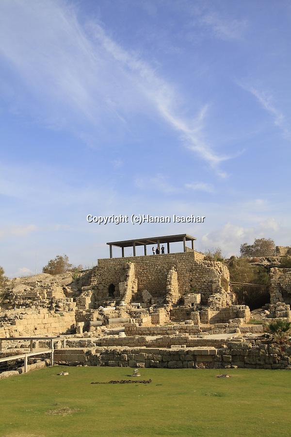 Israel, Sharon region, archaelogical remains in Caesarea