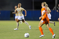 21 August 2011:  FIU's Scarlett Montoya (10) looks for an opportunity to steal the ball in the second half as the University of Florida Gators defeated the FIU Golden Panthers, 2-0, at University Park Stadium in Miami, Florida.
