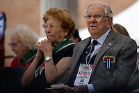 Rodolfo Lai & Luciana Romoli (Antifascist Partizans. Members of the Partigiani: the Italian Resistance during WWII).<br /> <br /> Rome, 25/04/2018. Today, to mark the 73rd Anniversary of the Italian Liberation from nazi-fascism ('Liberazione'), ANED Roma & ANPI Roma (National Association of Italian Partizans) held a march ('Corteo') from Garbatella to Piazzale Ostiense where a rally took place attended by Partizans, Veterans and politicians – including the Mayor of Rome and the President of Lazio's Region. From the organisers Facebook page:<<For the 25th of April, the 73rd Anniversary of the Liberation of Italy from nazi-fascism, while facing new threats to the world peace, it is necessary to remember that the Fight for Liberation triggered the greatest, positive, 'break' of the whole modern age of the Italian history. The Fight for the Liberation was supported by a great solidarity of the people. The memory of those who in the partizan struggle, in the camps of imprisonment, internment or extermination, opposed - even until the sacrifice of life - the dictatorship, the greed of territorial conquests, crazy ideologies of race supremacy, constitutes concrete warning against any attempt to undermine the foundations of the free institutions born of the Resistance. Memory is not an instrument of hatred or revenge, but of unity in a spirit of harmony without discriminations...<br /> (For the full caption please read the PDF attached at the the beginning of this story).<br /> <br /> For more info please click here: https://bit.ly/2vOIfNf & https://bit.ly/2r4iJy3 & http://www.anpi.it<br /> <br /> For the Wikipedia's page of the 'Liberazione' please click here: https://en.wikipedia.org/wiki/Liberation_Day_(Italy)<br /> <br /> For a Video of the event by Radio Radicale please click here: https://www.radioradicale.it/scheda/539534/manifestazione-promossa-dallanpi-in-occasione-della-73a-festa-della-liberazione