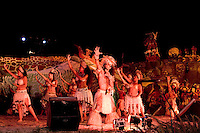 Natives Participating in Tapati Festival Easter Island during Rapa Nu