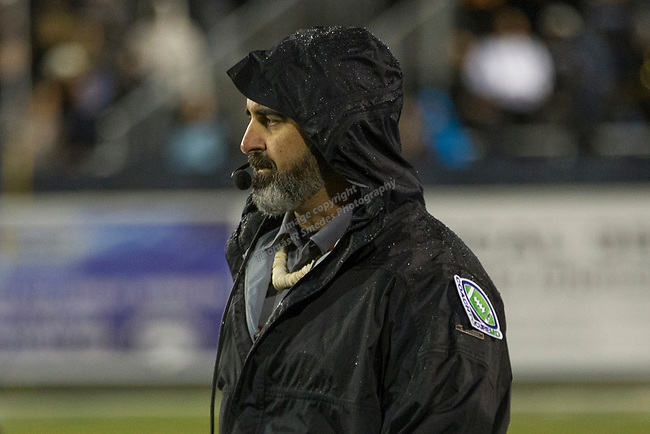 Hawaii head coach Nick Rolovich on the sidelines against Nevada in the first half of an NCAA college football game in Reno, Nev. Saturday, Sept. 28, 2019. (AP Photo/Tom R. Smedes)
