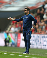 Tottenham Hotspur manager Mauricio Pochettino <br /> <br /> Photographer Rob Newell/CameraSport<br /> <br /> Emirates FA Cup - Emirates FA Cup Semi Final - Manchester United v Tottenham Hotspur - Saturday 21st April 2018 - Wembley Stadium - London<br />  <br /> World Copyright &copy; 2018 CameraSport. All rights reserved. 43 Linden Ave. Countesthorpe. Leicester. England. LE8 5PG - Tel: +44 (0) 116 277 4147 - admin@camerasport.com - www.camerasport.com