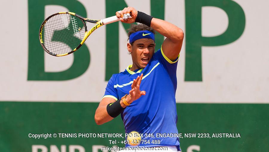 RAFAEL NADAL (ESP)<br /> <br /> TENNIS - FRENCH OPEN - ROLAND GARROS - ATP - WTA - ITF - GRAND SLAM - CHAMPIONSHIPS - PARIS - FRANCE - 2017  <br /> <br /> <br /> <br /> &copy; TENNIS PHOTO NETWORK