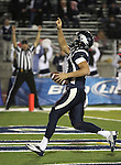 Nevada's Cody Fajardo (17) celebrates after scoring during the second half of an NCAA college football game in Reno, Nev., on Saturday, Oct. 20, 2012. (AP Photo/Cathleen Allison)
