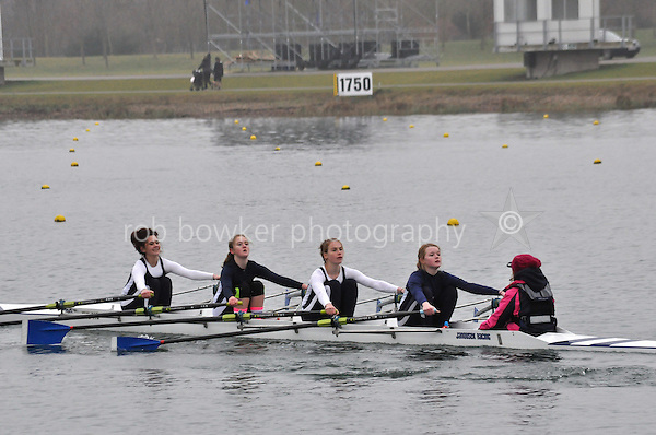 158 Evesham RC W.J15A.4x+..Marlow Regatta Committee Thames Valley Trial Head. 1900m at Dorney Lake/Eton College Rowing Centre, Dorney, Buckinghamshire. Sunday 29 January 2012. Run over three divisions.