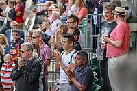 Supporters after the Friendly match between Ealing Trailfinders and Dragons  at Castle Bar , West Ealing , England  on 11 August 2018. Photo by David Horn / PRiME Media Images.