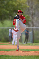 Philadelphia Phillies pitcher James McArthur (26) during an exhibition game against the Canada Junior National Team on March 11, 2020 at Baseball City in St. Petersburg, Florida.  (Mike Janes/Four Seam Images)