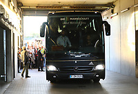 Mannschaftsbus kommt an - 09.09.2018: Deutschland vs. Peru, Wirsol Arena Sinsheim, Freundschaftsspiel DISCLAIMER: DFB regulations prohibit any use of photographs as image sequences and/or quasi-video.